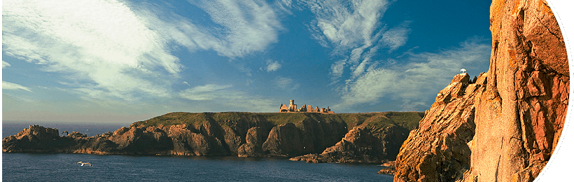 Slains Castle - Landscape